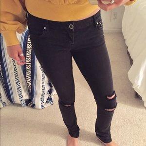 Hurley black skinny jeans